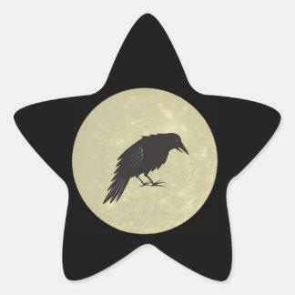 Rabe Mond raven moon Star Sticker