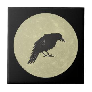 Rabe Mond raven moon Tile