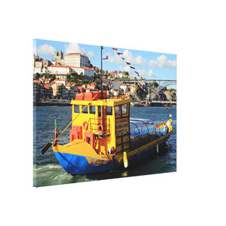 Rabelo boat, Porto, Portugal Canvas Print