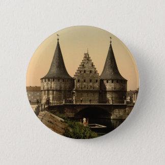 Rabot Gate, Ghent, Belgium 2 Inch Round Button