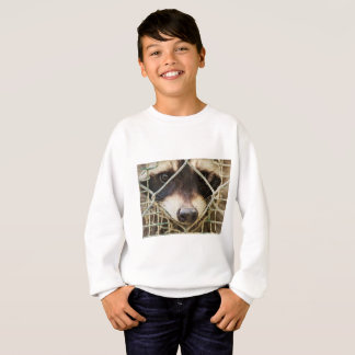 raccon on Kids' Hanes ComfortBlend Sweatshirt