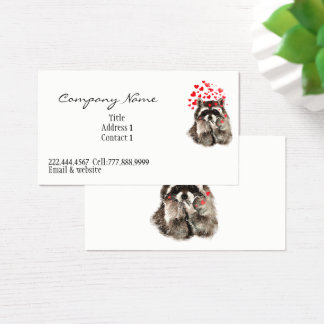 Raccoon Animal Hugs and Kisses Funny Raccoon Business Card