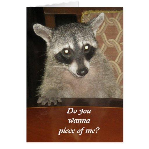 Raccoon At A Tabel Greeting Card