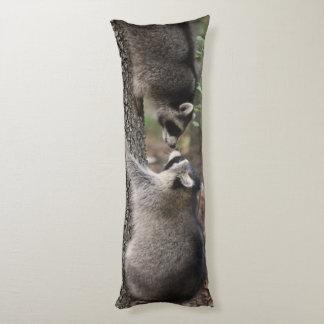 Raccoon body pillow. body pillow