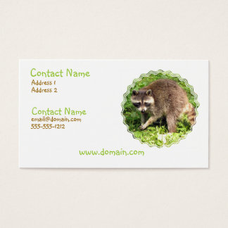 Raccoon Business Card
