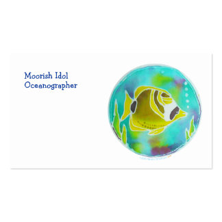 Raccoon Butterfly Fish Batik Art Business Card