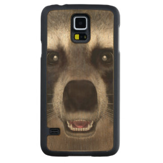 Raccoon Carved Maple Galaxy S5 Case