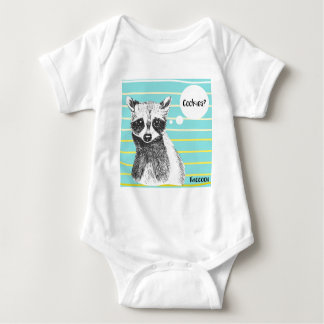 Raccoon_Cookies_113323534.ai Baby Bodysuit