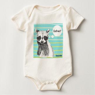 Raccoon_Cookies_113323534.ai Baby Bodysuit