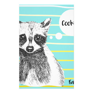 Raccoon_Cookies_113323534.ai Custom Stationery