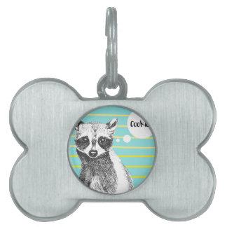 Raccoon_Cookies_113323534.ai Pet ID Tag
