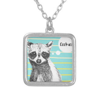 Raccoon_Cookies_113323534.ai Silver Plated Necklace