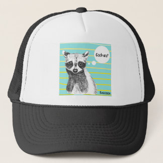 Raccoon_Cookies_113323534.ai Trucker Hat