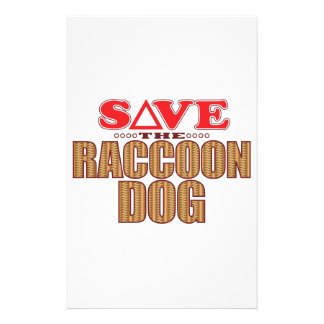 Raccoon Dog Save Stationery Paper