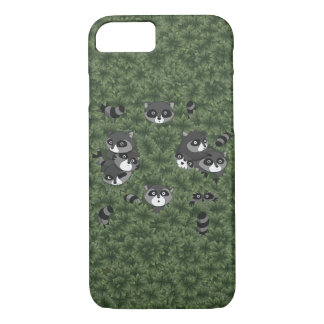 Raccoon Family in a Bush iPhone 8/7 Case