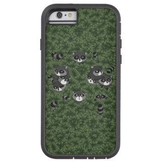 Raccoon Family in a Bush Tough Xtreme iPhone 6 Case