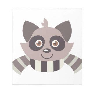 Raccoon Head Notepad