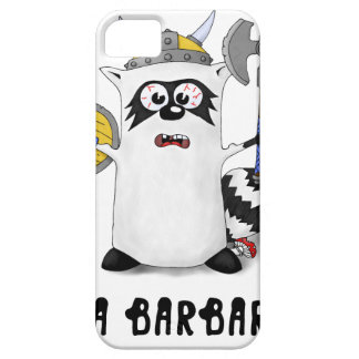 Raccoon: I'm a Barbarian! iPhone 5 Cases