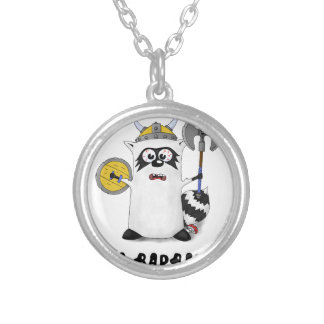 Raccoon: I'm a Barbarian! Silver Plated Necklace