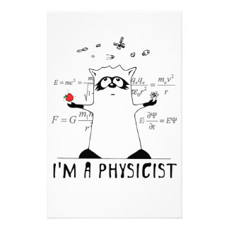 Raccoon: I'm a Physicist Stationery Design