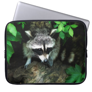 Raccoon In Forest Nature Laptop Sleeve