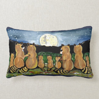 """""""Raccoon in the Moon"""" Accent Throw Pillow Decor"""