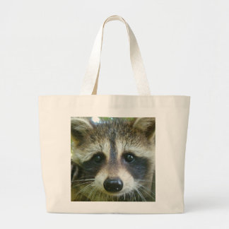 Raccoon-In-Your-Face hefty grocery bag