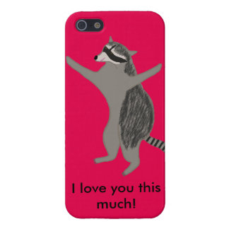 """Raccoon iPhone case """"I love you this much!"""" Case For The iPhone 5"""