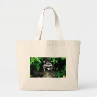 raccoon large tote bag