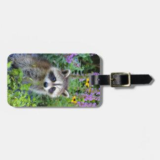 Raccoon luggage tag