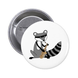 Raccoon Playing the Saxophone Pins
