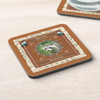 Raccoon  -Protector- Cork Coaster Set of 6