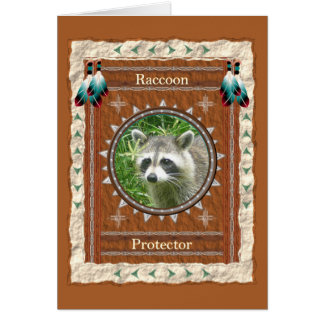 Raccoon  -Protector- Custom Greeting Card