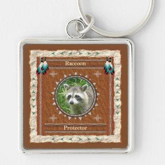 Raccoon  -Protector- Keychain