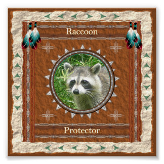 Raccoon  -Protector- Poster Print
