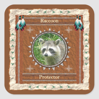 Raccoon  -Protector- Stickers - 20 per sheet