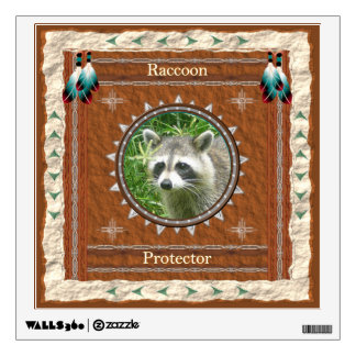 Raccoon  -Protector- Wall Decal