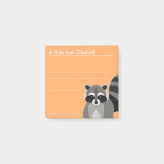 Raccoon Rascal Custom Color and Name Post-it Notes