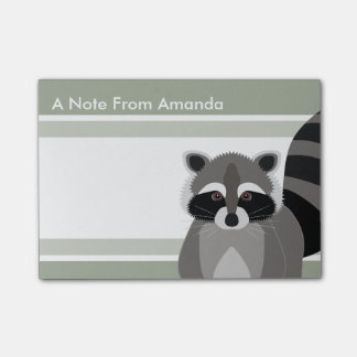 Raccoon Rascal Cute Design for Animal Lover Post-it® Notes