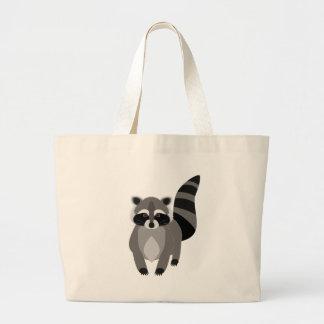 Raccoon Rascal Large Tote Bag