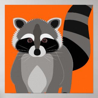 Raccoon Rascal Poster