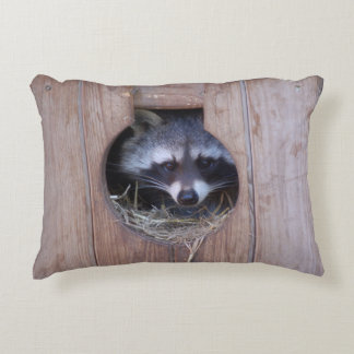 Raccoon raton laveur Racoon by Jean Louis Glineur Decorative Pillow