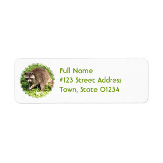 Raccoon Return Address Mailing Label