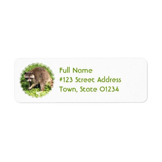 Raccoon Return Address Mailing Label Return Address Label