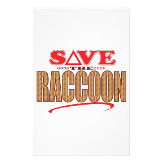 Raccoon Save Stationery