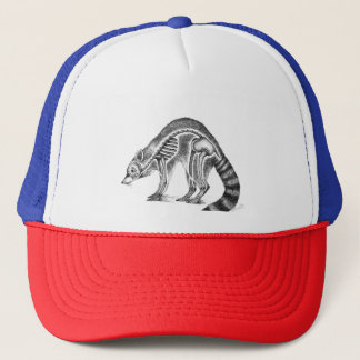 Raccoon Skeleton Trucker Hat