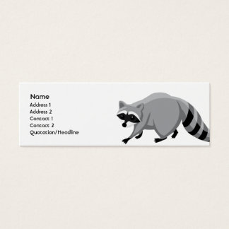 Raccoon - Skinny Mini Business Card