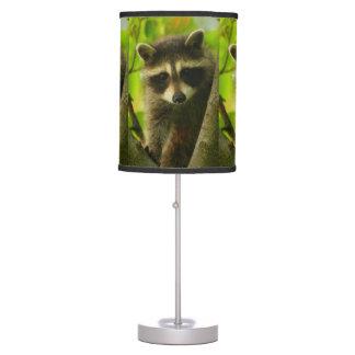 raccoon table lamp