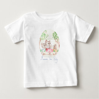 """Raccoon Tea Party"" Baby Jersey T-shirt"
