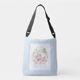 """Raccoon Tea Party"" Kids Body Bag Lightgrey"
